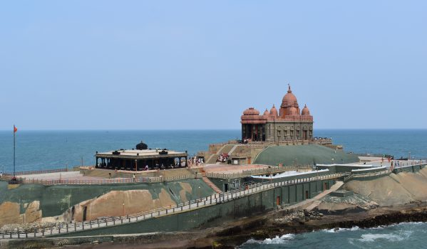 Panoramic view of Vivekananda Rock Memorial