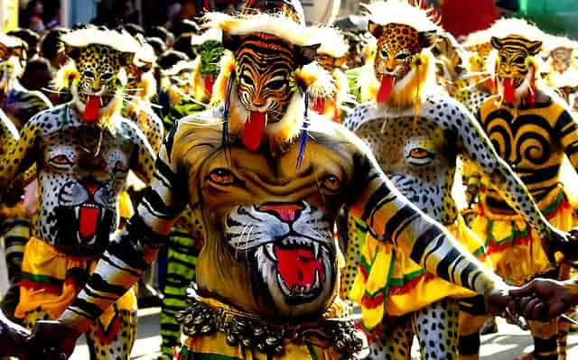 Puli Kali at Thrissur