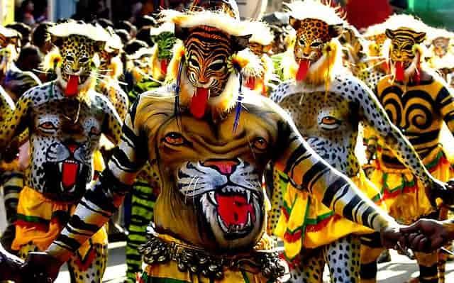 Puli Kali at Thrissur