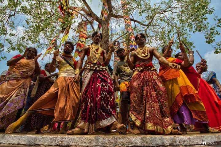 Snaps of Bharani festival