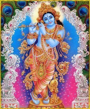 Lord Krishna at Thiruvambadi Krishna Temple
