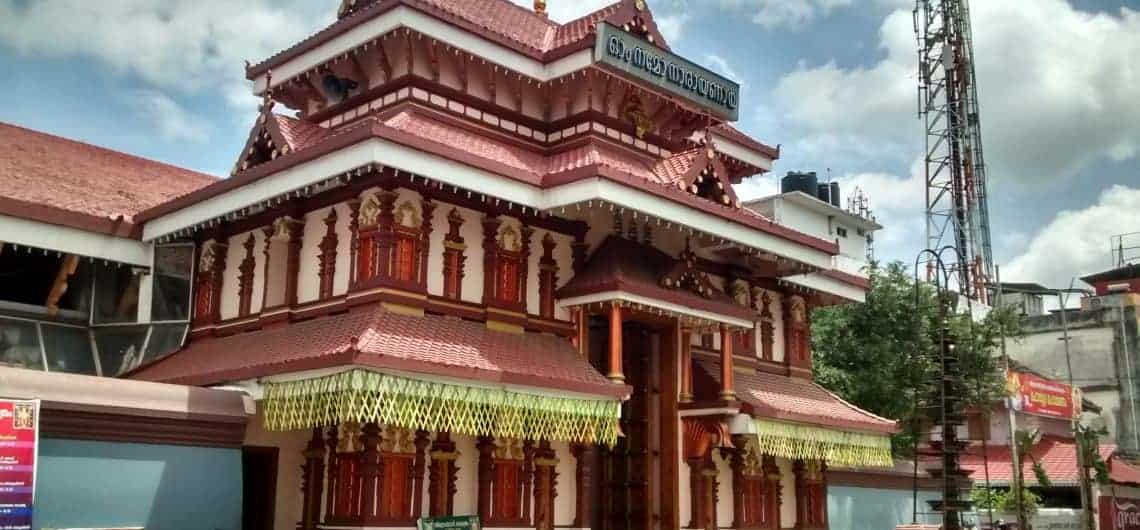 Portrait view of Thiruvambadi Krishna Temple