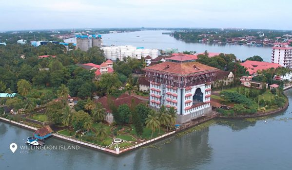 Spectacular aerial view of Willingdon Island
