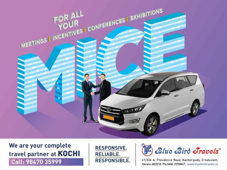 Creative for Managed service offering for MICE ground transport at Kochi