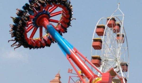 Water Pendulum ride at Wonderla Kochi