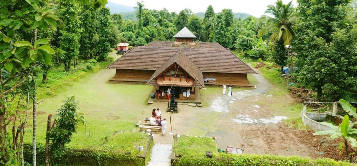 Aerial View of Temple