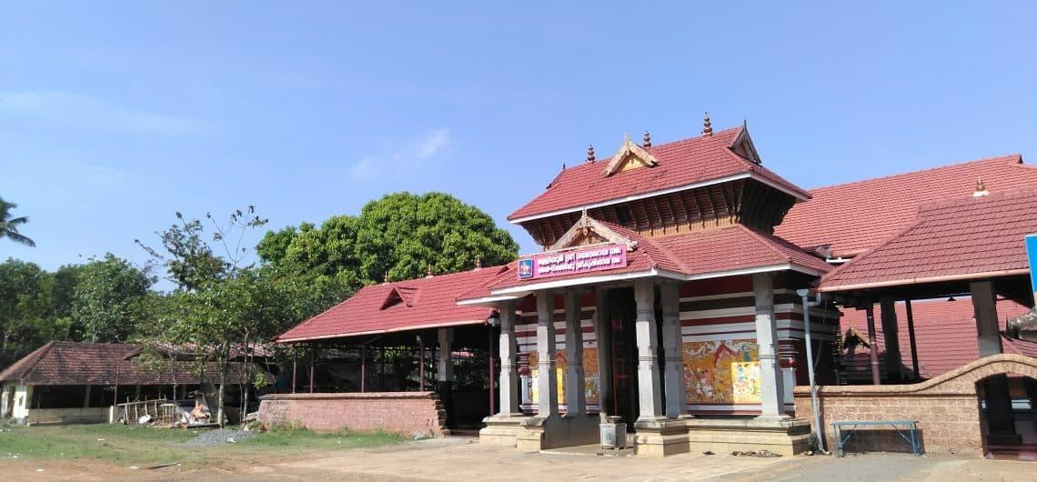 Gopuram of Malliyoor Maha Ganapathy Temple